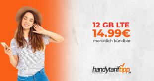 12 GB - monatlich kündbar - nur 14,99 € pro Monat