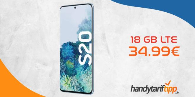 Galaxy S20 mit 18 GB LTE im Vodafone Netz nur 34,99€