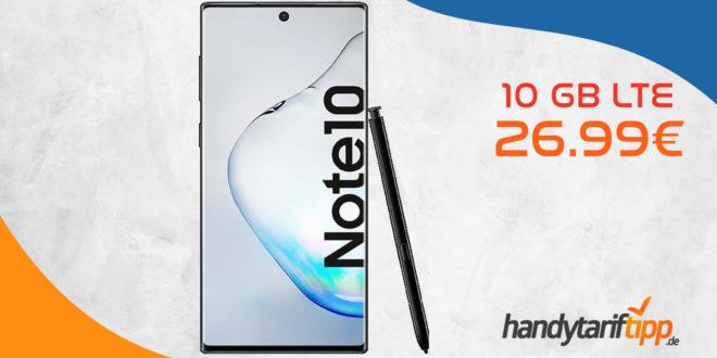 Galaxy Note10 mit 10 GB LTE im Telekom Netz nur 26,99€