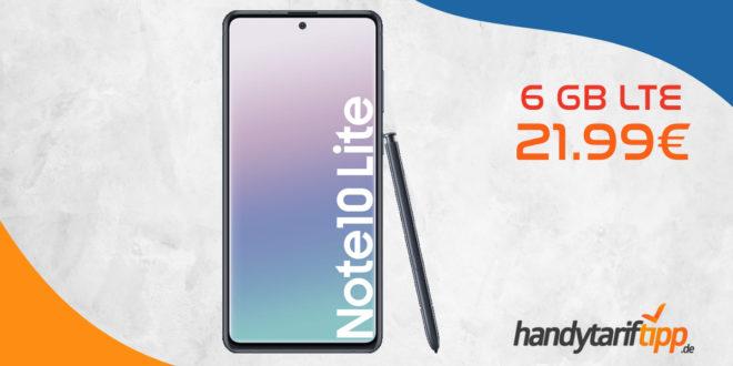 SAMSUNG Galaxy Note 10 Lite mit 6 GB LTE nur 21,99€
