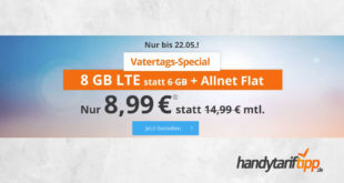 8GB LTE ohne Vertragslaufzeit nur 8,99€