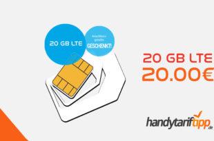 20 GB LTE im Telekom Netz nur 20€