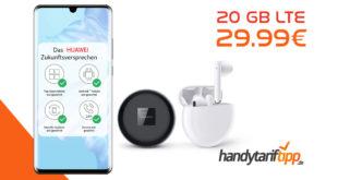 Huawei P30 Pro & FreeBuds3 mit 20 GB LTE nur 29,99€