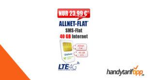 Allnet-Flat & 40 GB LTE rech. 23,99€