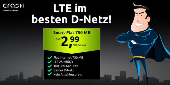 100 Minuten & 750 MB LTE im Telekom Netz nur 2,99€