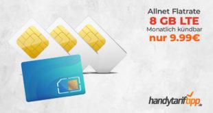 8 GB LTE Allnet & monatlich kündbar nur 9,99€