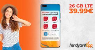 HUAWEI P40 Pro mit 26 GB LTE nur 39,99€