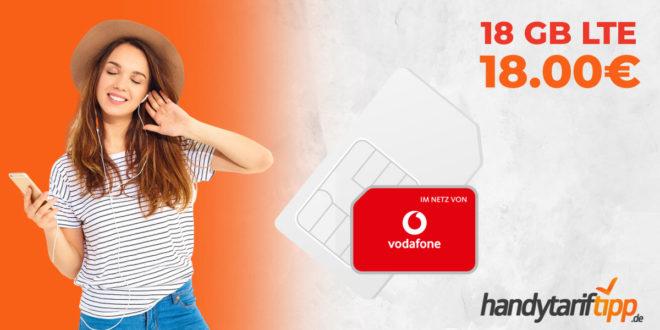 LTE 18 GB im Vodafone Netz nur 18€ mtl.