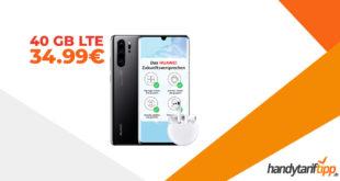 Huawei P30 Pro & FreeBuds3 mit 40 GB LTE nur 34,99€