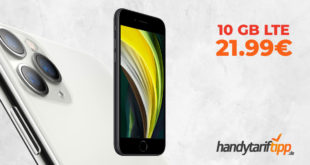 iPhone SE (2020) mit 10 GB LTE nur 21,99€
