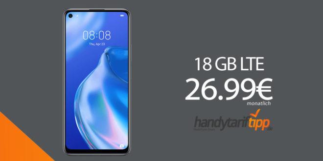 HUAWEI P40 lite 5G mit 18 GB LTE im Telekom Netz nur 26,99€