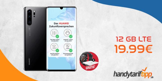 HUAWEI P30 Pro & Watch GT & Körperfettwaage mit 12 GB LTE nur 19,99€