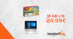 Nintendo Switch Animal Crossing - New Horizons Edition oder HP 14 Zoll Notebook mit 18 GB LTE nur 24,99€