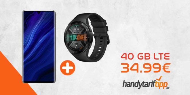 Huawei P30 Pro New Edition & Smartwatch GT2e mit 40 GB LTE nur 34,99€