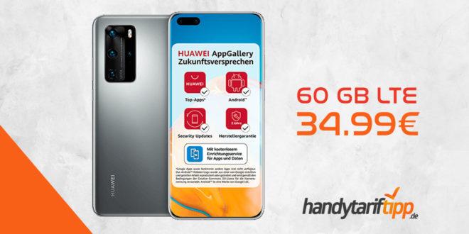 Huawei P40 Pro mit 60 GB LTE nur 34,99€