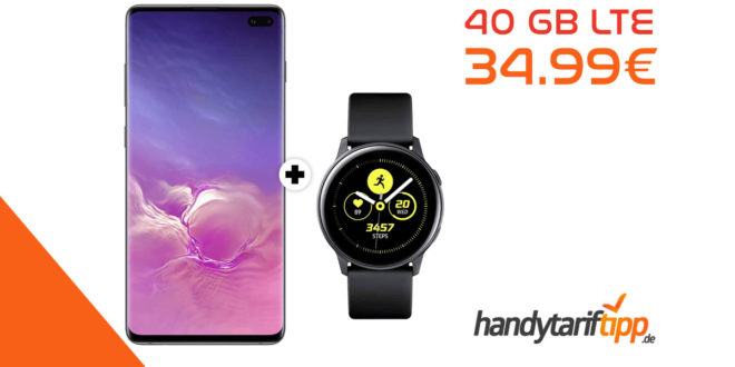 SAMSUNG Galaxy S10+ [S10Plus] & Samsung Galaxy Watch mit 40 GB LTE nur 34,99€