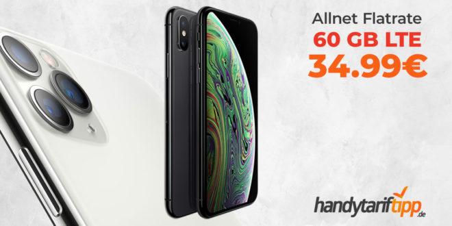 Apple iPhone XS mit 60 GB LTE nur 34,99€