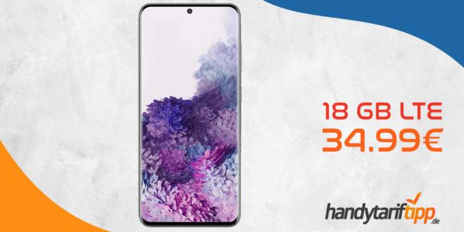 SAMSUNG Galaxy S20 mit 18 GB LTE im Telekom Netz nur 34,99€