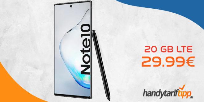 SAMSUNG Galaxy Note10 mit 20 GB LTE nur 29,99€