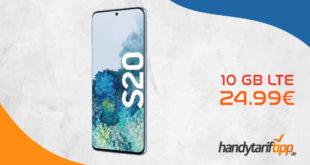 SAMSUNG Galaxy S20 mit 10 GB LTE im Vodafone Netz nur 24,99€