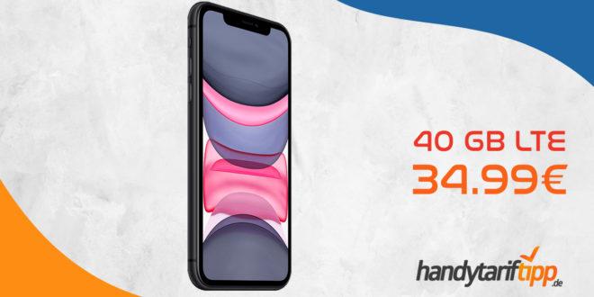 APPLE iPhone 11 mit 40 GB LTE nur 34,99€