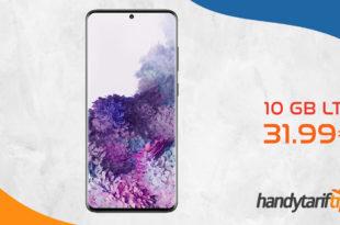 SAMSUNG Galaxy S20+ [S20PLUS] mit 10 GB LTE im Telekom oder Vodafone Netz nur 31,99€