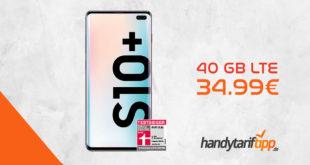 Samsung Galaxy S10+ [S10Plus] mit 40 GB LTE nur 34,99€