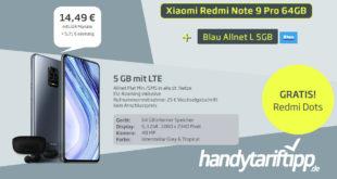 Xiaomi Redmi Note 9 Pro & Redmi Dots mit 5 GB LTE nur 14,49€