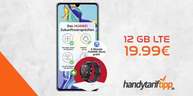 HUAWEI P30 & Huawei Watch GT & Körperfettwaage & 6 Monate Huawei Music mit 12 GB LTE nur 19,99€