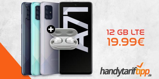 Samsung Galaxy A71 & Samsung Galaxy Buds mit 12 GB LTE nur 19,99€
