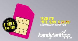 [Datentarif-Knaller] 15 GB LTE im Telekom-Netz nur 9,99€