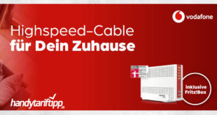 [Highspeed Zuhause] Internet & Phone Cable von Vodafone mit der Fritz!box 6591 Cable