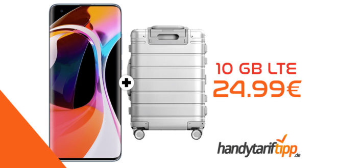 "XIAOMI Mi 10 & Xiaomi Mi Metal Carry-On Luggage 20"" mit 10 GB LTE im Telekom Netz nur 24,99€ mtl."
