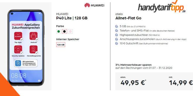 HUAWEI P40 Lite 128 GB mit 5 GB LTE nur 14,99€