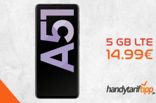 SAMSUNG Galaxy A51 mit 5 GB LTE nur 14,99€