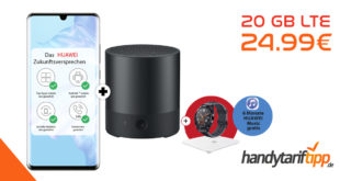 HUAWEI P30 Pro Dual SIM & Huawei Mini Speaker & Watch GT & Körperfettwaage mit 20 GB LTE nur 24,99€