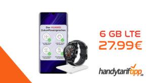 Huawei P30 Pro New Edition mit gratis Smartwatch und Waage & 6 GB LTE nur 27,99€