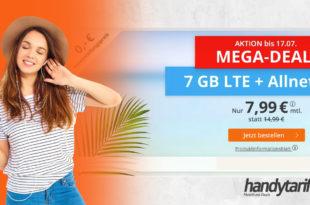 7 GB LTE für 7,99€ mtl. - Ohne Vertragslaufzeit