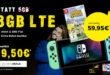 Nintendo Switch Animal Crossing oder Smartphone mit Congstar 8GB LTE im Telekom Netz nur 19,50€