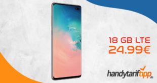 SAMSUNG Galaxy S10+ [S10Plus] Dual-SIM mit 6 GB LTE nur 21,99€ und mit 18 GB LTE nur 24,99€