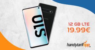 Samsung Galaxy S10 (128 GB) für 4,95 € Zuzahlung + o2 Blue All-in M (12 GB LTE) für 19,99 € monatlich