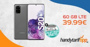 Samsung Galaxy S20+ [S20Plus] & Galaxy Buds & 6 Monate Spotify Premium mit 60 GB LTE nur 39,99€ mtl.