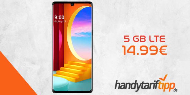 LG Velvet 4G Dual-SIM mit 5 GB LTE nur 14,99€ mtl.