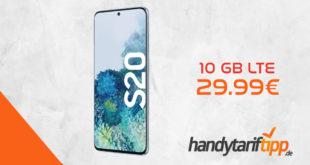 SAMSUNG Galaxy S20 mit 10 GB LTE im Telekom Netz nur 29,99€