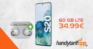 Samsung Galaxy S20 & Galaxy Buds mit 60 GB LTE nur 34,99€
