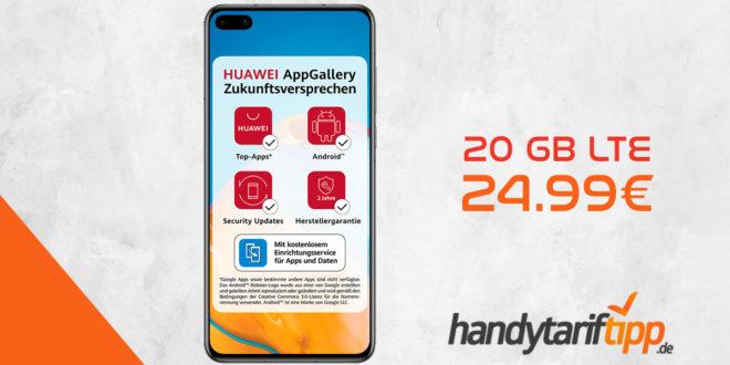 HUAWEI P40 mit 20 GB LTE nur 24,99€