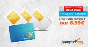 LTE Allnet 5 GB - Ohne Vertragslaufzeit- nur 6,99€ mtl.