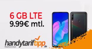 Huawei P40 lite E mit 6 GB LTE nur 9,99€ mtl.