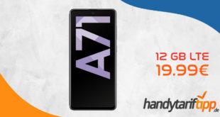 Samsung Galaxy A71 mit 12 GB LTE nur 19,99€