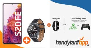 Samsung Galaxy S20 FE & Samsung Galaxy Watch3 & Galaxy Fit2 oder Xbox Gaming Paket mit bis zu 40 GB LTE nur 34,99€